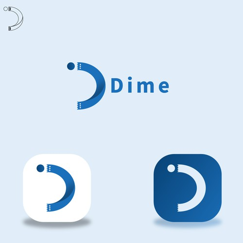 Dime tickets logo design