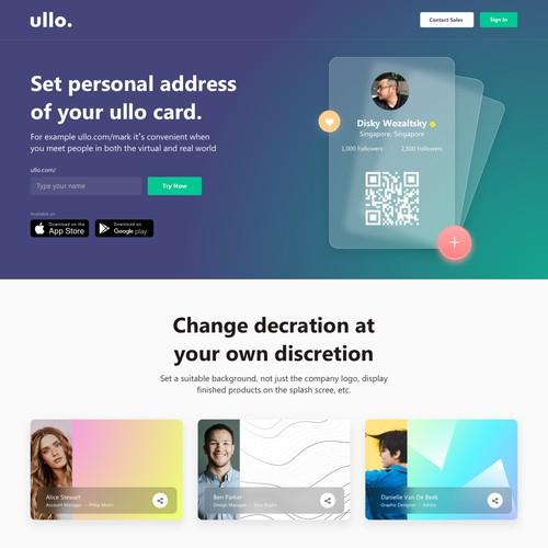 Digital Card Landing Page Design