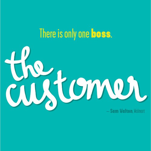 """Poster """"There is only one boss. The customer."""" for Startup Vitamins"""