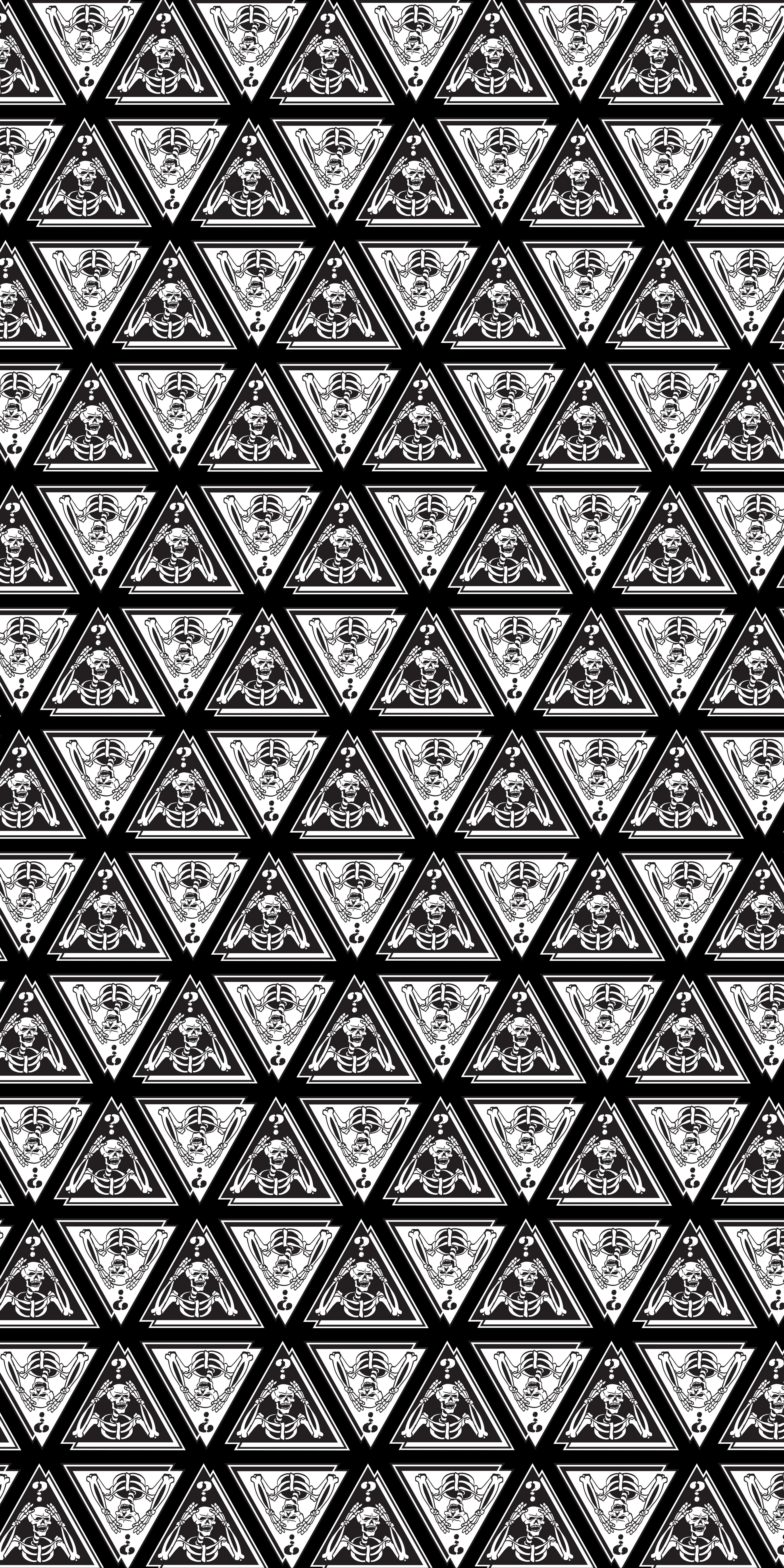 Meme Skull seamless pattern illustration to appeal