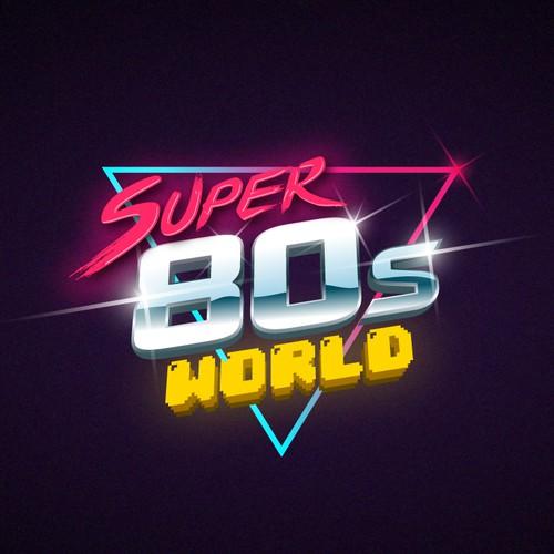 Logo for retro video game