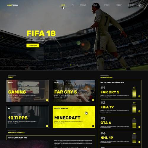 Webdesign | Game Portal