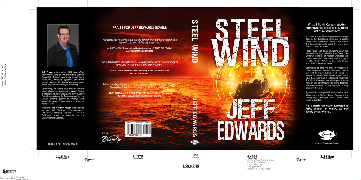 Steel Wind Cover - Hardcover & Audio book adjustments