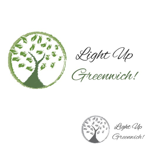 Growth logo tree symbol