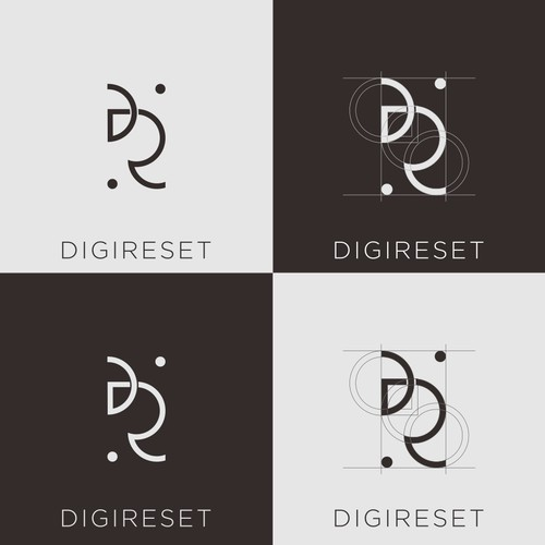 logo abstract DR
