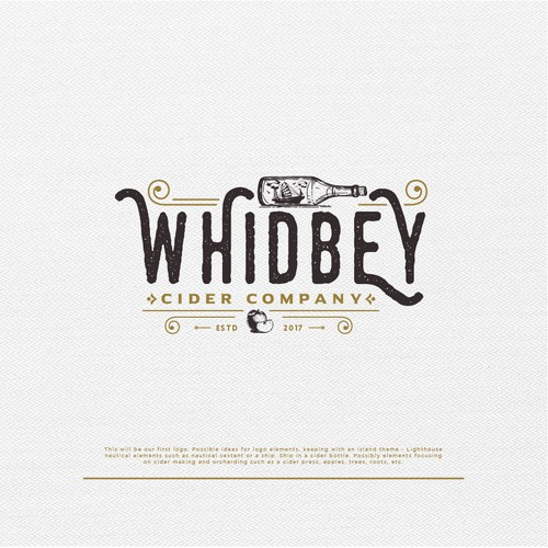 Vintage logo for Whidbey Cider Company