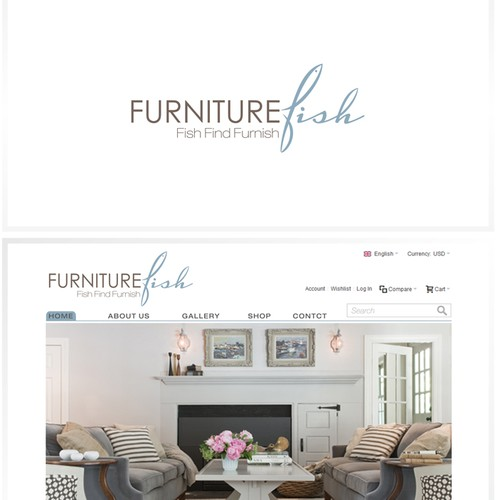 Furniture Fish needs an elegant, sophisticated logo
