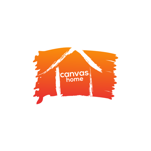 Design a creative logo for my real estate company Canvas Homes