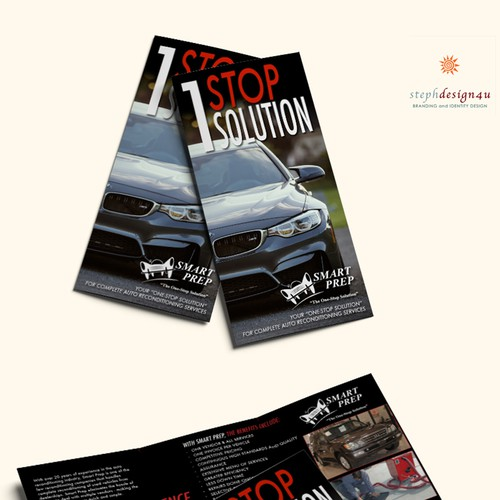 Trifold Brochure to grab Car Dealership Business