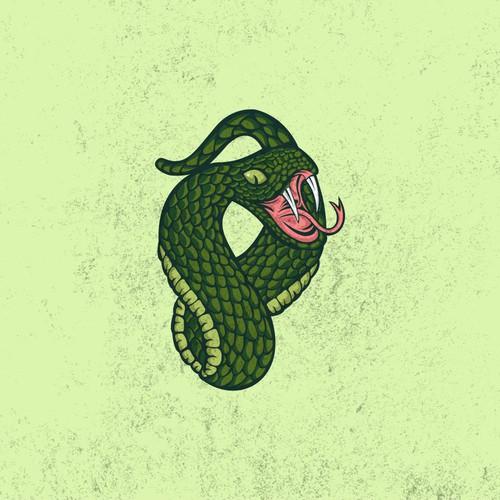 boa snake mascot design