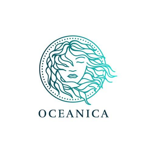 Oceanica Logo Design Concept