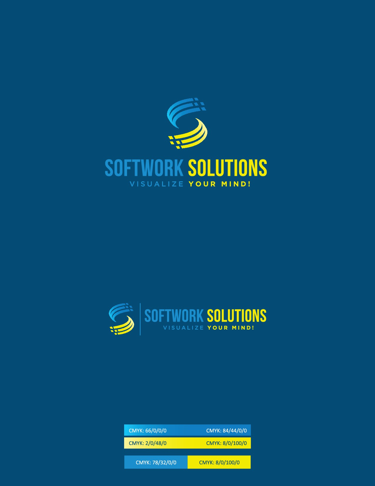 """Create Logo for : """"SOFTWORK SOLUTIONS - Visualize your Mind !"""""""