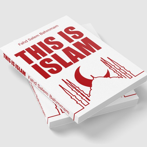 Clean and modern cover for a book introducing people to islam