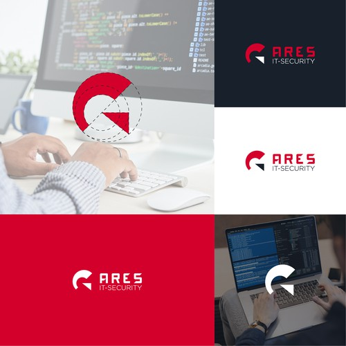 Minimalist logo for Ares IT-Security