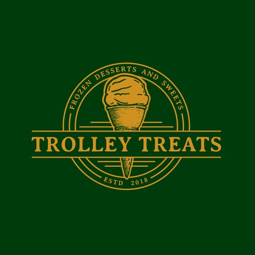 logo for vintage trolley