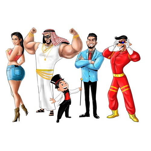 Characters for Global Food & Drink Brand Giant