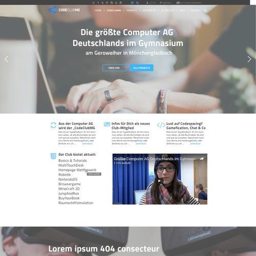 Webdesign Schul-Computer-Club