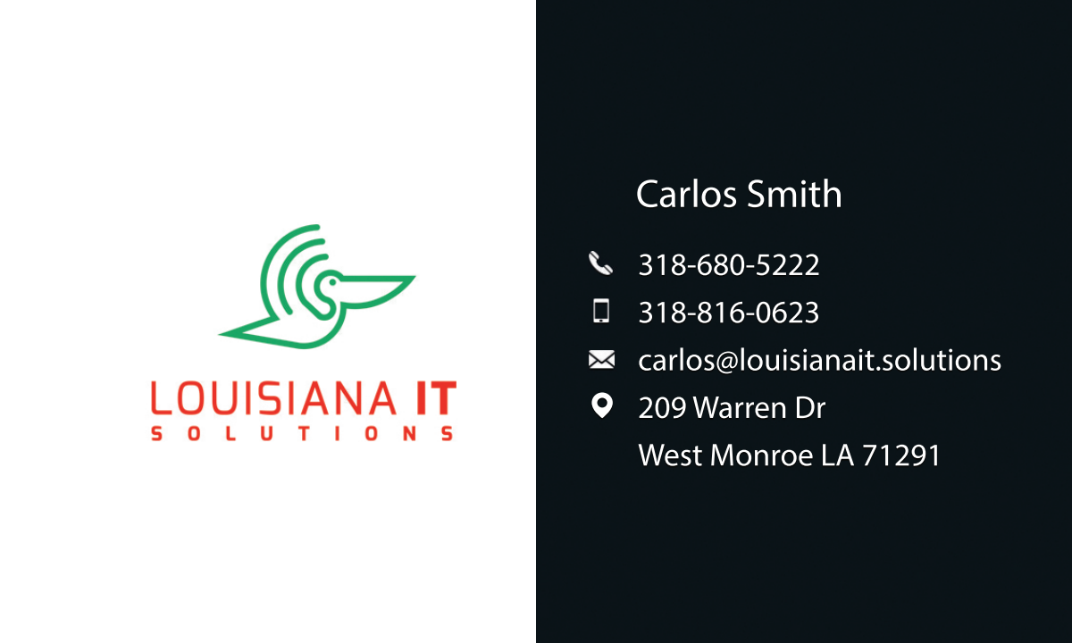 Business Card Design Louisiana IT