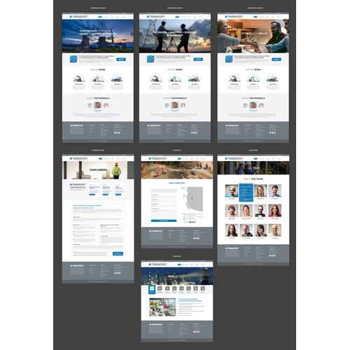 Corporate web design for Terrawest