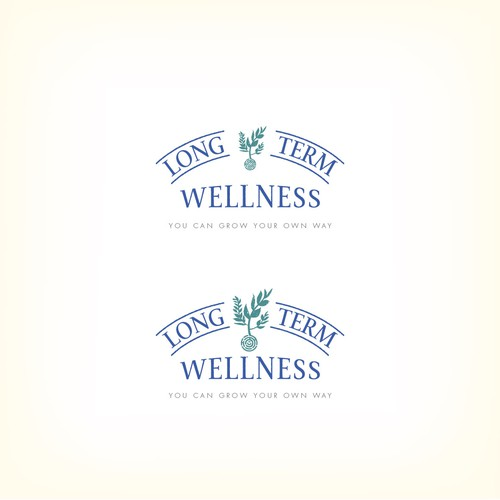 Logo design for a naturopathic practice that involves nutrition advise, life coaching, and communiti gardening.