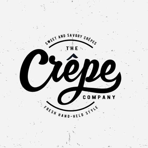 Unique logo for Crepe Company
