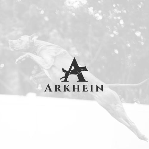 A minimalist and elegant logo for Arkhein K9