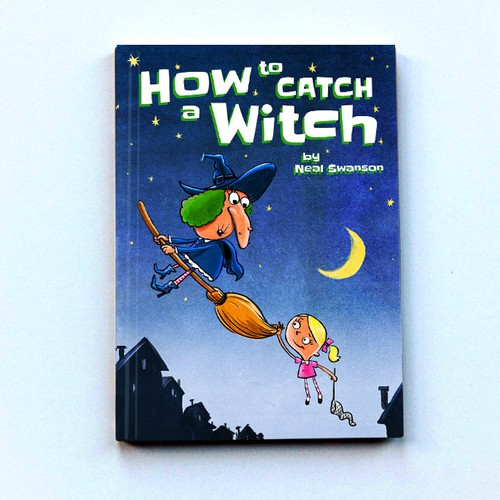 "Children's Storybook Illustration - ""How To Catch A Witch"" - meant foryoung children"