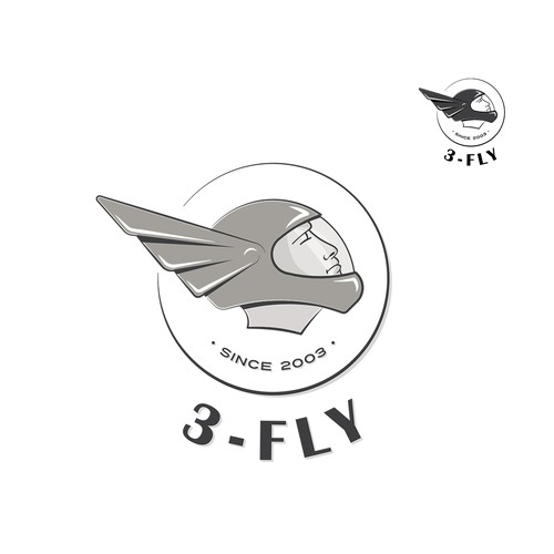 Logo concept for a skydiving team