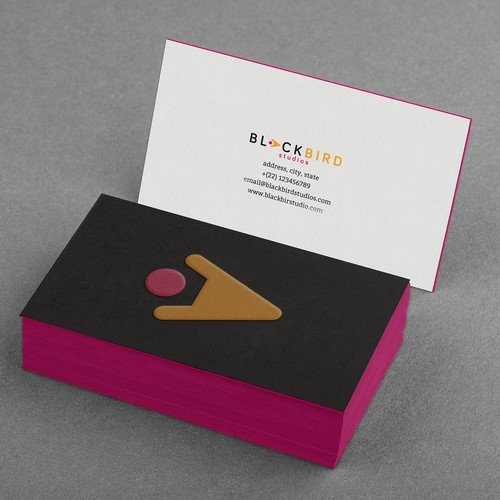 Logo and cards for design focused dev studio