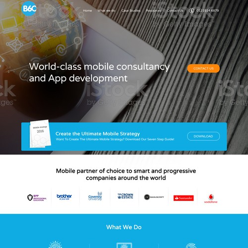 Mobile Agency web design