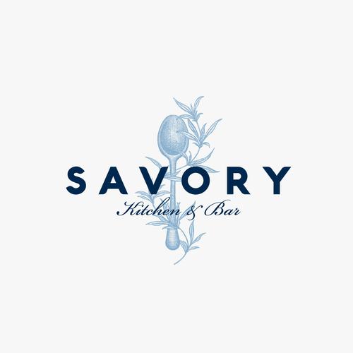 Logo design for Savory restaurant.