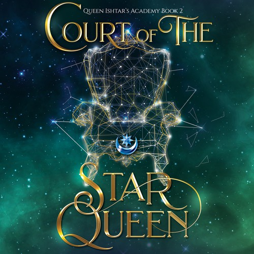 Court of the Star Queen audio book cover design.