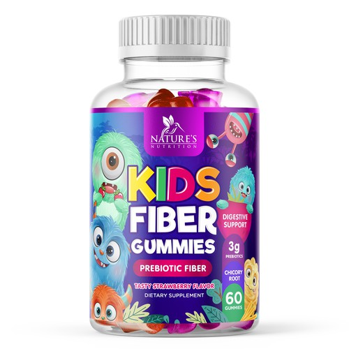 Kids Fiber Gummies Supplement Design