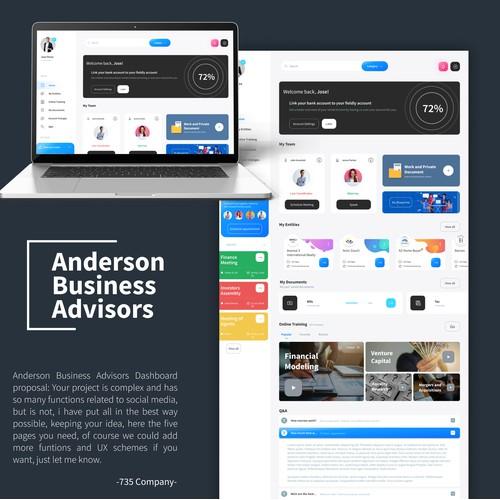 Bussiness advisor web inteface.