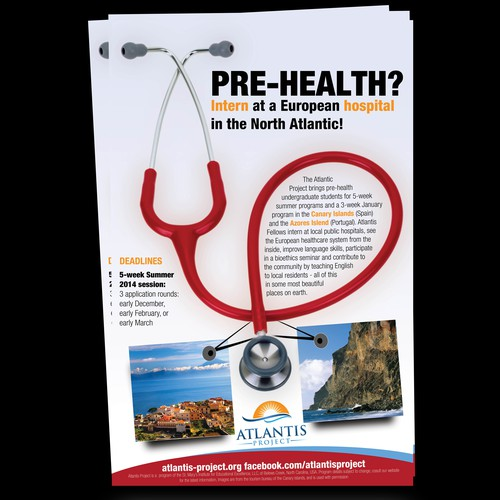 Create a poster for a US university program for future doctors
