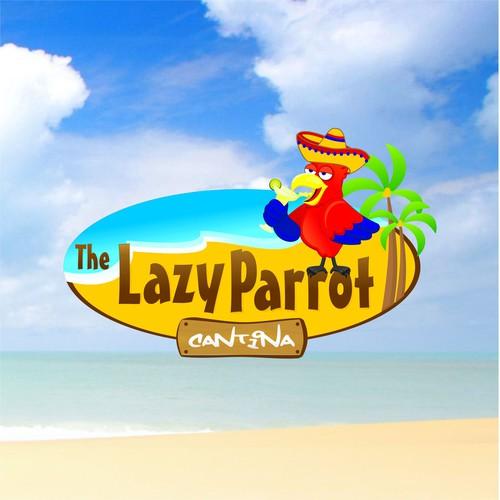 The Lazy Parrot Cantina Logo