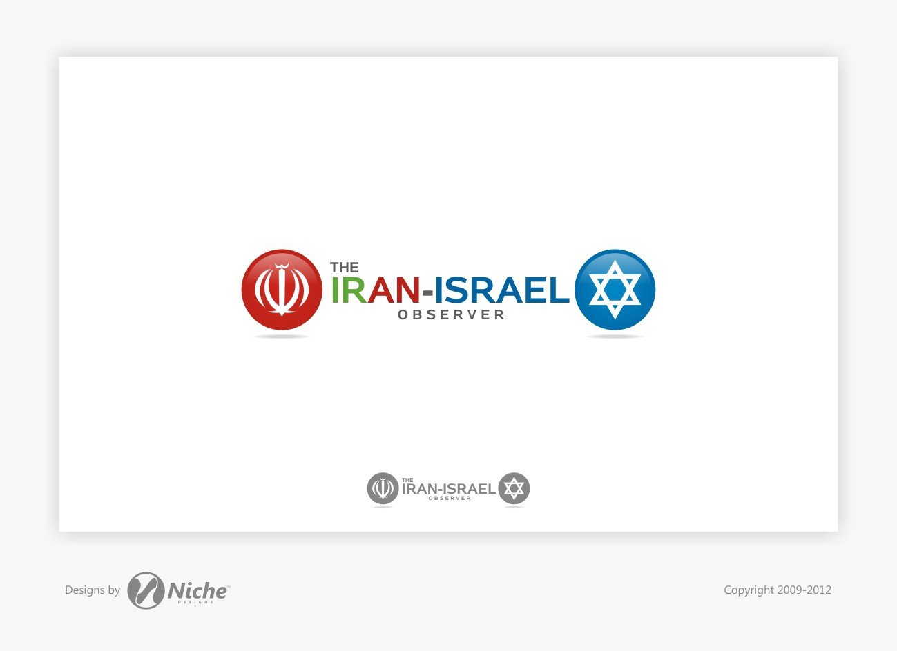 The Iran Israel Observer  needs a new logo