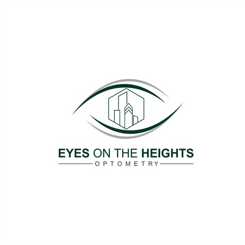"""Eye catching logo for """"Eyes on the Heights Optometry"""""""