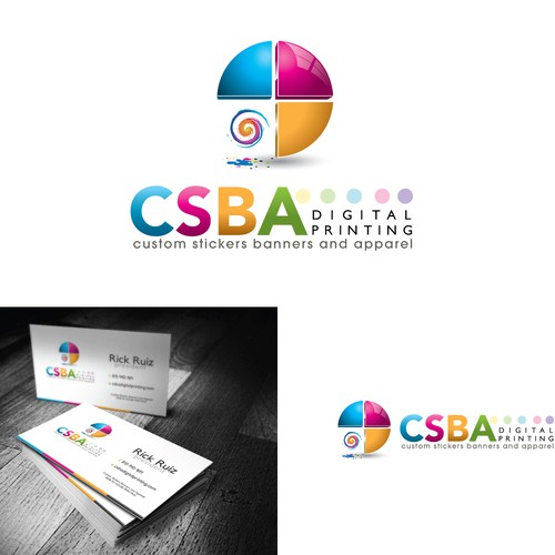New logo and business card wanted for CSBA Digital Printing