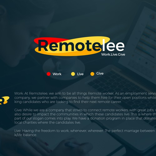 Logo concept for remotelee