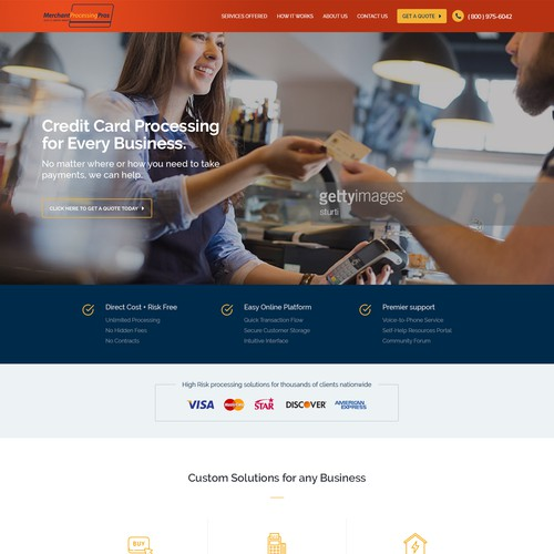 Website Design for Merchant Processing Pros