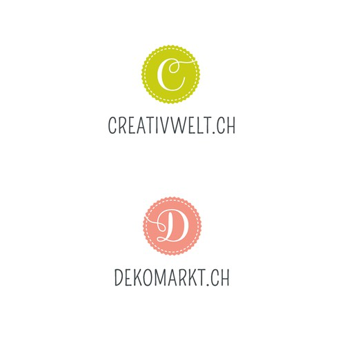 Corporate Design für 4 Shops in einem Onlinestore