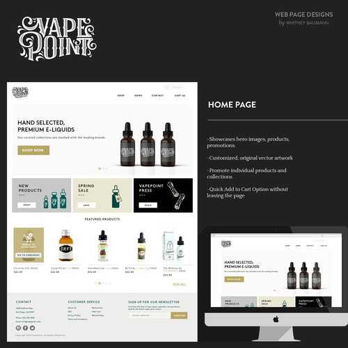 Vape Point Shop & Bar WEB design