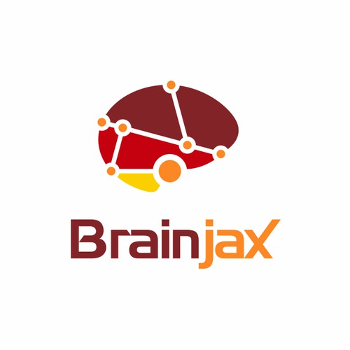 Custom brain logo for an internet company.