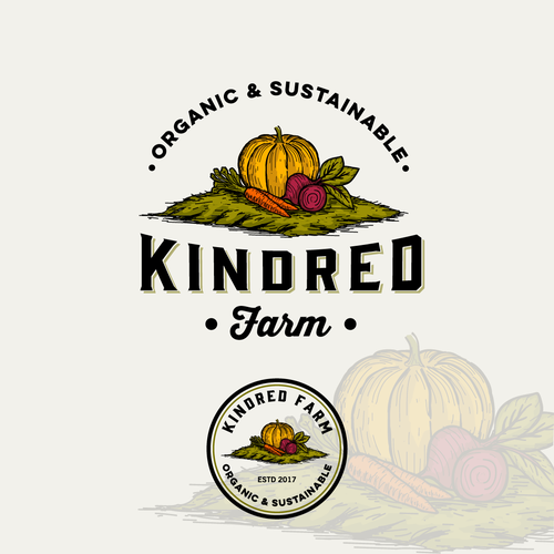 Kindred Farm logo to help launch organic & sustainable produce venture