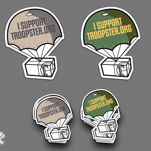 Sticker design for Troopster.org