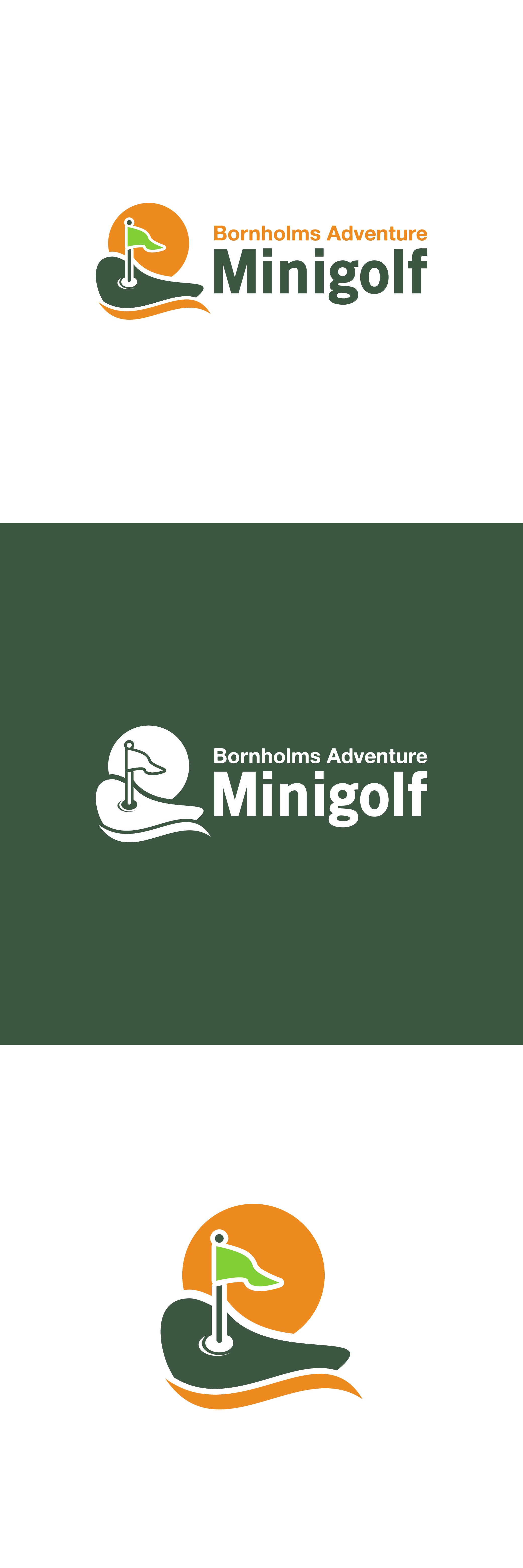 Logo for the most fun & challenging minigolf course on Bornholm