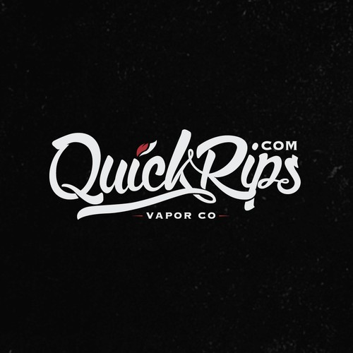 Hand lettered logo for vapor brand