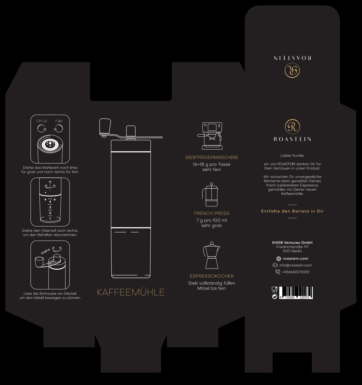 Coffee grinder Packaging