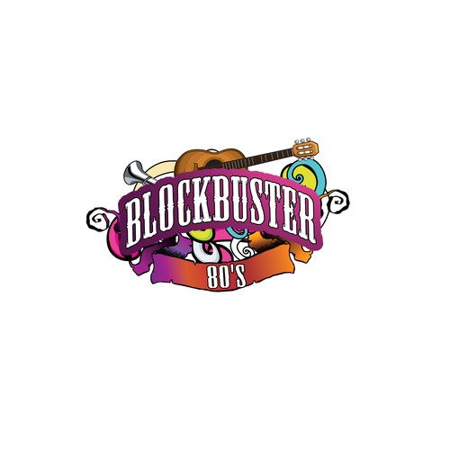 "Create a fun, yet serious logo for a musical concert ""Blockbuster 80's"""